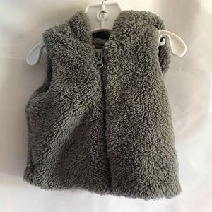 GYMBOREE Baby Furry Sleeveless Hoody